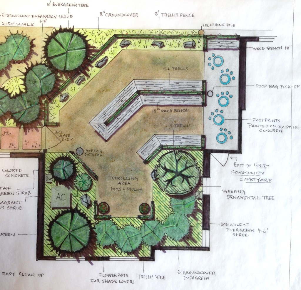 This courtyard design by Betty McCarron will be installed in spring, 2014