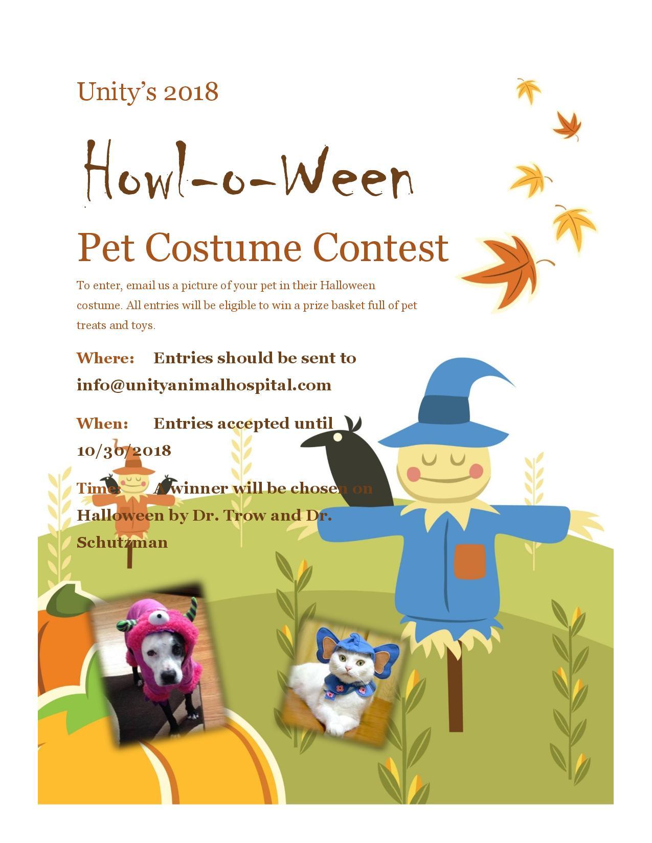 unity animal hospital 2018 halloween contest flyer page 001